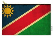 Namibia Flag Vintage Distressed Finish Carry-all Pouch
