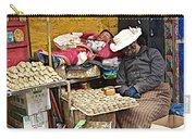 Nap Time For Child And Street Shopkeeper In Lhasa-tibet   Carry-all Pouch