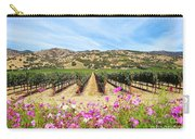 Napa Valley Vineyard With Cosmos Carry-all Pouch