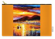 Naples-sunset Above Vesuvius - Palette Knife Oil Painting On Canvas By Leonid Afremov Carry-all Pouch