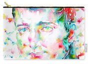 Napoleon Bonaparte - Watercolor Portrait Carry-all Pouch