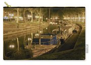 Narbonne France Canal De La Robine At Night Dsc01657  Carry-all Pouch