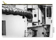 Narrow Streets Of Albarracin  Black And White Carry-all Pouch