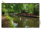 Narrowboats Moored On The Wey Navigation In Surrey Carry-all Pouch