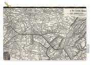 Nashville Railway Map Vintage Carry-all Pouch