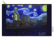 Dedication To Van Gogh Nashville Starry Nights Carry-all Pouch