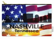 Nashville Tn Patriotic Large Cityscape Carry-all Pouch by Angelina Vick