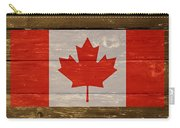 Canada National Flag On Wood Carry-all Pouch