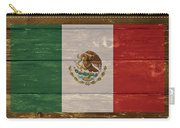 Mexico National Flag On Wood Carry-all Pouch
