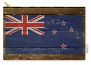 New Zealand National Flag On Wood Carry-all Pouch