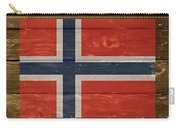 Norway National Flag On Wood Carry-all Pouch