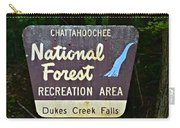 National Forest Recreation Area Carry-all Pouch
