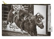 National Stock Show Bareback Riding Carry-all Pouch by Priscilla Burgers