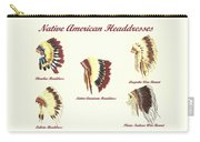 Native American Headdresses Number 4 Carry-all Pouch