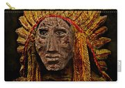 Native American In Wood 1886 Carry-all Pouch