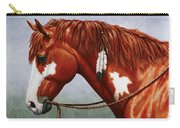 Native American Pinto Horse Carry-all Pouch by Crista Forest