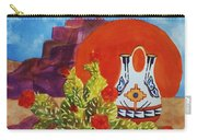 Native American Wedding Vase And Cactus Carry-all Pouch