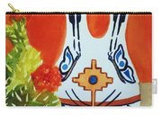 Native American Wedding Vase And Cactus-square Format Carry-all Pouch