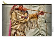 Native American With Blowgun Carry-all Pouch