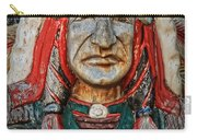 Native American Wood Carving Carry-all Pouch