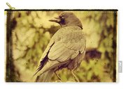 Natural Crow Carry-all Pouch