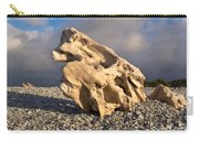Naturally Sculpted Waterworn Wood On Pebble Beach Carry-all Pouch