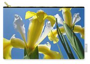 Nature Art Prints Yellow White Irises Flowers Carry-all Pouch