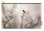 Nature Raven Crow Trees - Surreal Fantasy Gothic Nature Raven Crow In Trees Sepia Print Decor Carry-all Pouch