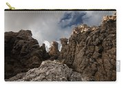 A Stunning Rock Wall Becomes A Wild Nature Sculpture In North Coast Of Minorca Europe Carry-all Pouch