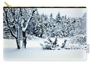 Natures Handywork - Snow Storm - Snow - Trees 2 Carry-all Pouch