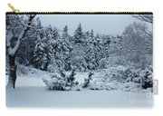 Natures Handywork - Snowstorm - Snow - Trees Carry-all Pouch