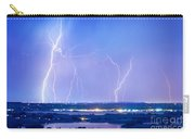 Natures Light Show Over The Boulder Reservoir  Carry-all Pouch by James BO  Insogna