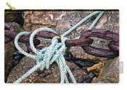 Nautical Lines And Rusty Chains Carry-all Pouch