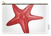 Nautical Red Starfish Carry-all Pouch by Michelle Eshleman