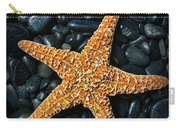Nautical - Starfish On Black Rocks Carry-all Pouch