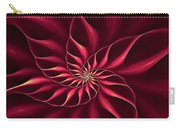 Nautilus Fractalus Magenta And Yellow Carry-all Pouch