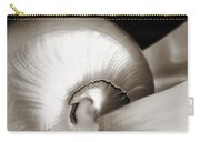 Nautilus Shell Sepia Carry-all Pouch