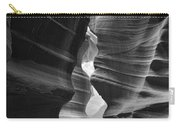 Antelope Canyon Black And White Carry-all Pouch
