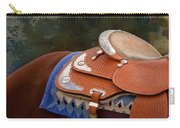 Navajo Silver And Basketweave Carry-all Pouch