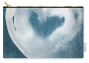Navy Blue And White Love Carry-all Pouch