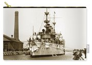 Navy Cruiser Uss New York Going Into Dry Dock San Francisco Circa 1903 Carry-all Pouch