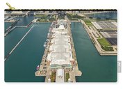 Navy Pier Chicago Aerial Carry-all Pouch by Adam Romanowicz