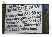 Nc-a76 Albemarle And Chesapeake Canal Carry-all Pouch