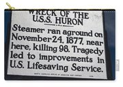 Nc-b31 Wreck Of The U.s.s. Huron Carry-all Pouch