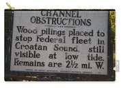 Nc-bbb3 Confederate Channel Obstructions Carry-all Pouch