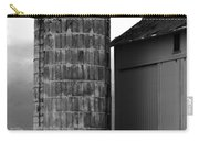 Near Infrared Old Michigan Barn With Silos Bw Usa Carry-all Pouch