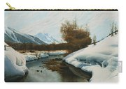 Near La Punt St Morritz In The Engadine Valley Carry-all Pouch