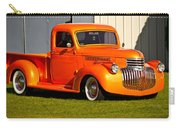 Neat Vintage Chevrolet Truck In Bright Orange Carry-all Pouch