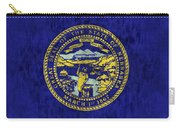 Nebraska Flag Carry-all Pouch by World Art Prints And Designs
