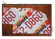 Nebraska License Plate Map Art Carry-all Pouch